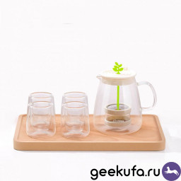 Набор для чая 17PIN Tea Fun Pot Set (чайник 800ml + стаканы 4*95ml) купить в Уфе