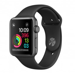 Часы Apple Watch Series 1 42mm Space Gray Aluminium Case Sport Band Black купить в Уфе