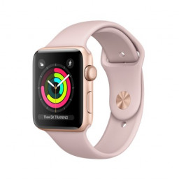 Часы Apple Watch Series 3 38mm Gold Aluminum Case with Pink Sand Sport Band купить в Уфе