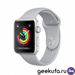 Часы Apple Watch Series 3 38mm Silver Aluminum Case with Fog Sport Band купить в Уфе